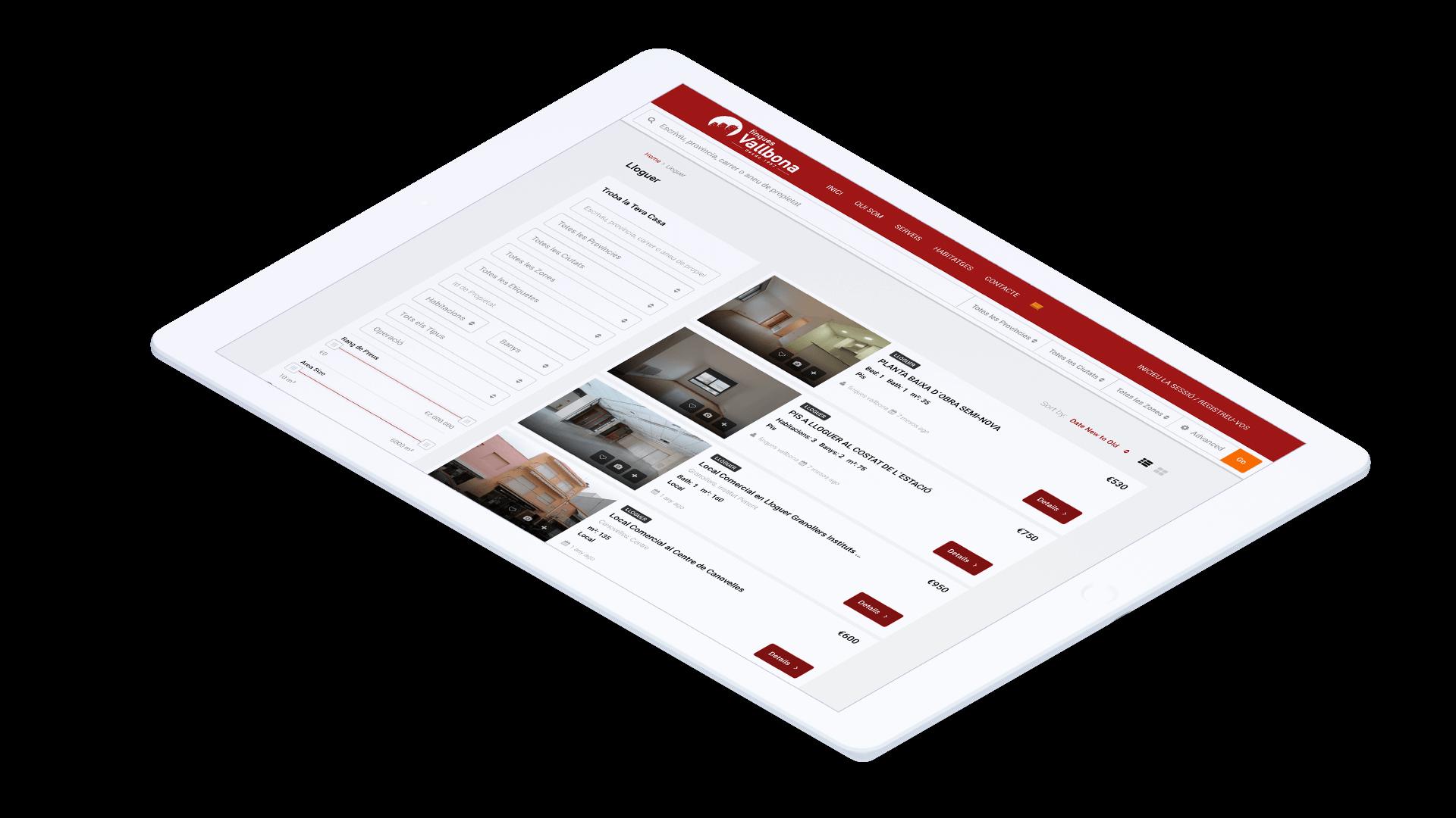Diseño web para agencia inmobiliaria en Tarragona