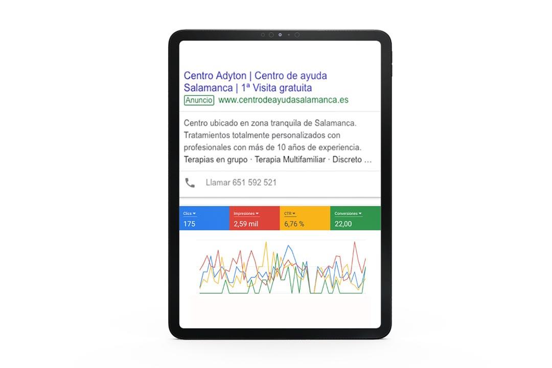 Campaña de Google ads para centro terapéutico   Olago