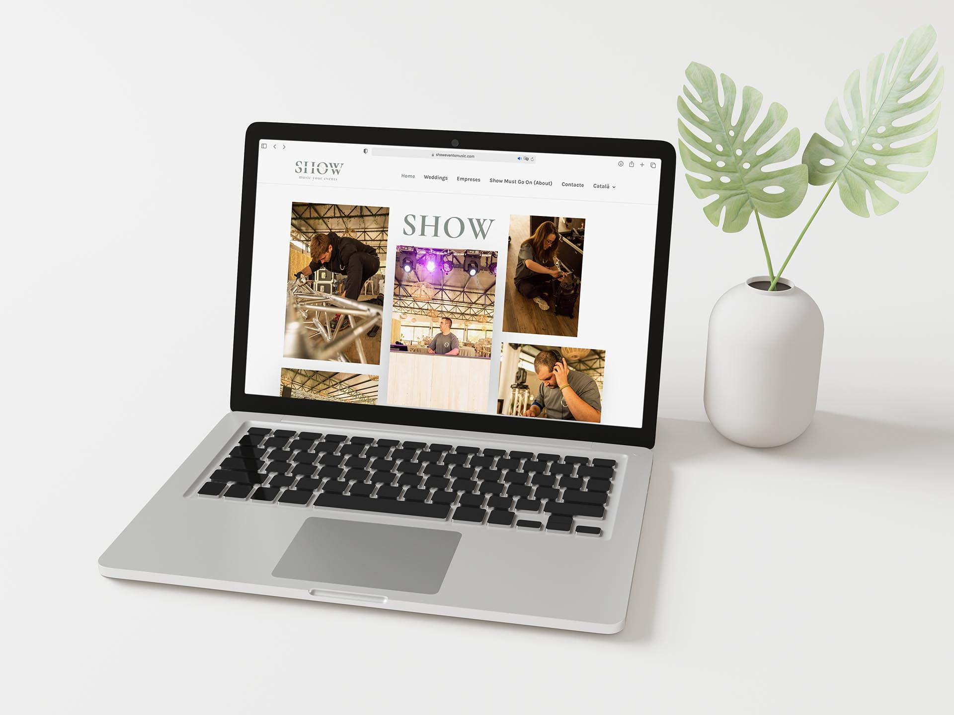 Web corporativa para empresa de sonorización | Olago