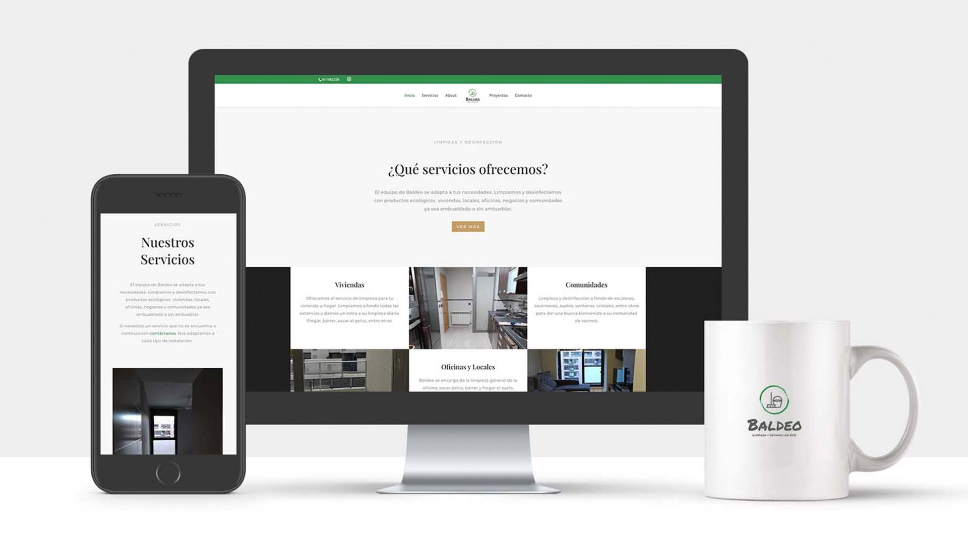 Web corporativa para empresa de limpieza Madrid | Olago